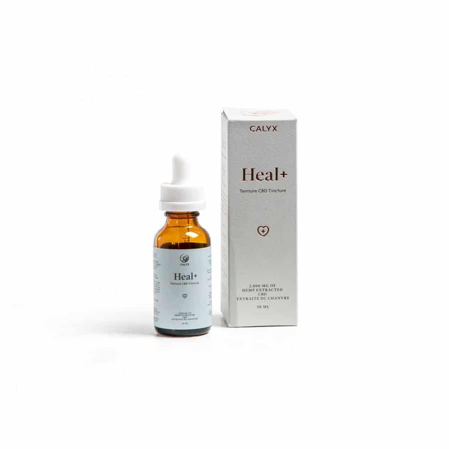 Box and bottle of Heal Plus Oil