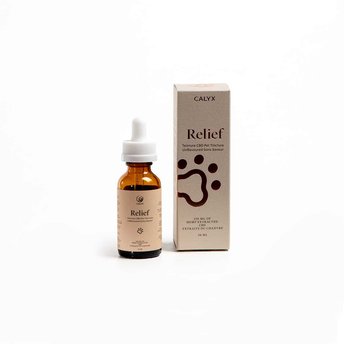 Box and Bottle of Relief Pet Oil