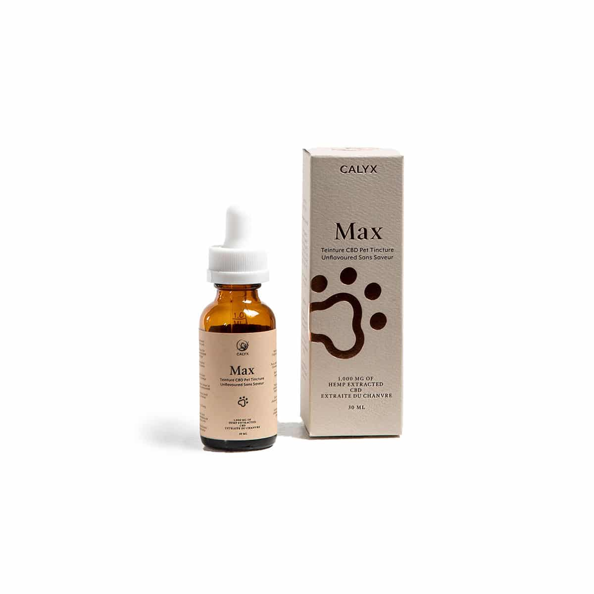 Box and Bottle of Max Pet Oil